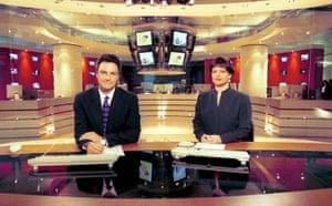 Gavin Esler and Valerie Sanderson in 1999