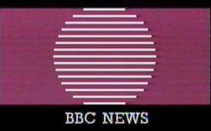 BBC news logo in the early 1980s