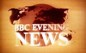 BBC news logo in the late 1970s