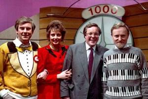Gyles Brandreth, Carol Vorderman, Richard Whiteley, Richard Stilgoe on Countdown