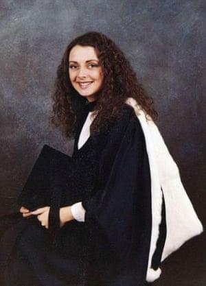 Carol Vorderman at her graduation in 1978