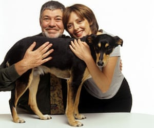 MAtthew Kelly and Caolr Vorderman on the TV show Give a Pet a Home