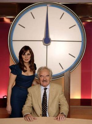 Carol Vorderman and Des Lynham on Countdown