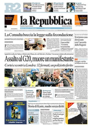 G20 front pages