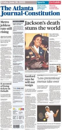 Michael Jackson death: Atlanta Journal-Constitution