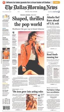 Michael Jackson death: Dallas Morning News
