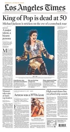 Michael Jackson death: LA Times