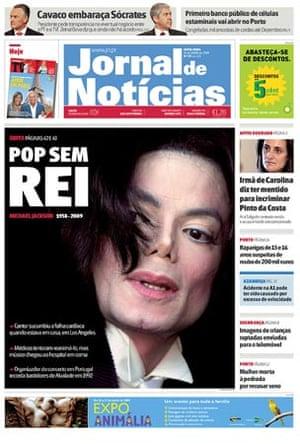 Michael Jackson death: Jornal de Noticias