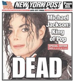Michael Jackson death: New York Post