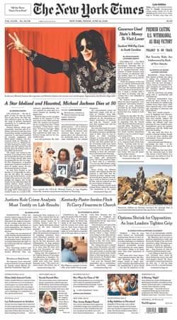 Michael Jackson death: New York Times