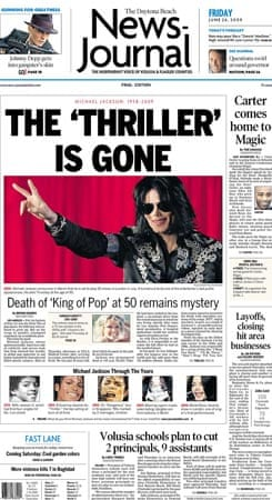 Michael Jackson death: Daytona Beach News-Journal