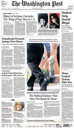 Michael Jackson death: Washington Post
