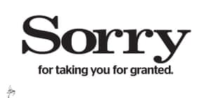 Evening Standard 'Sorry' ad