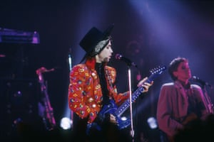 Prince and band Revolution performing in Nice, France