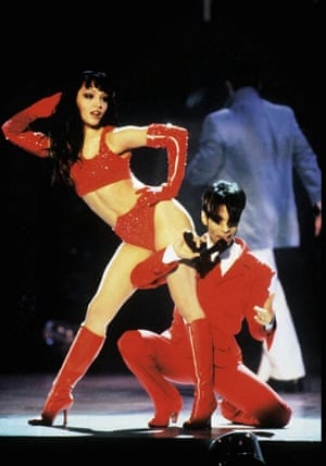 Prince and Mayte Garcia on stage in Frankfurt, Germany