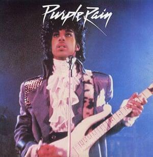 Purple rain promotional shot