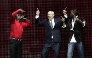 Colin Powell dances
