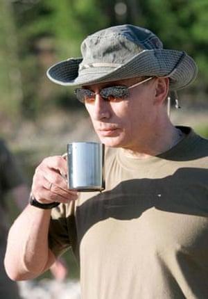 Vladimir Putin Goes Fishing World News The Guardian