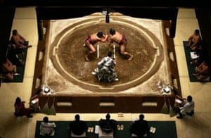 A view of the Rikishi competing