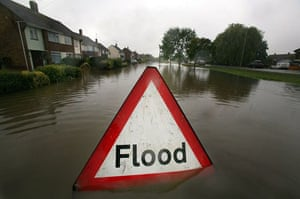 A flood sign