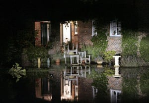 One of the 3,000 properties which have been flooded in Oxfordshire