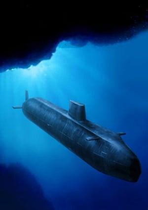Royal Navy Astute Class Submarine