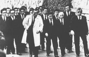 Members of the Yakuza organisation Yamaguchi-gumi