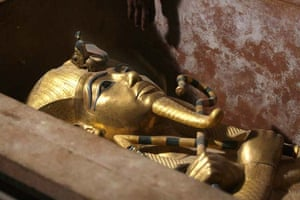 The golden covering of the mummy