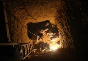 Tunnels under Gaza