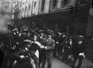 Suffragette Annie Kenney is arrested