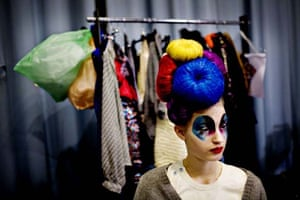A model at the International Fashion Fair