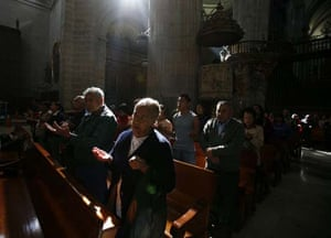 Ash Wednesday mass in Mexico
