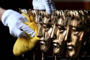 BAFTA statues are polished