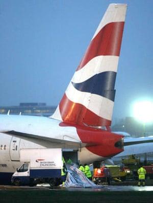 Plane crash at Heathrow Airport