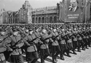 Moscow May military parade