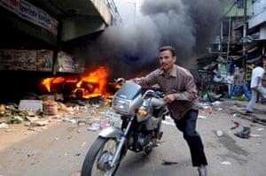 bomb blasts in Assam, India
