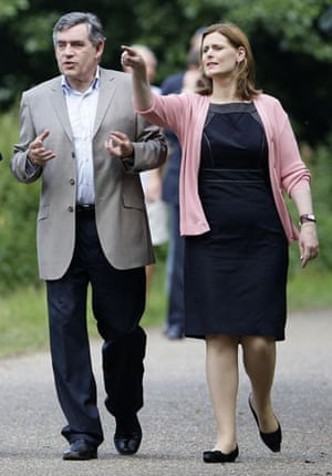 2008, Trowse, UK: Gordon Brown and his wife Sarah walk through Whitlingham Country Park
