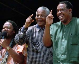 Nelson Mandela dances