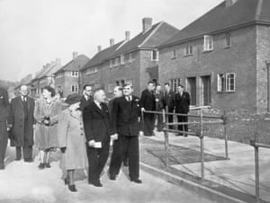 Aneurin Bevan opens the 500th council house
