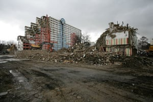 Barking and Dagenham council housing estate being demolished