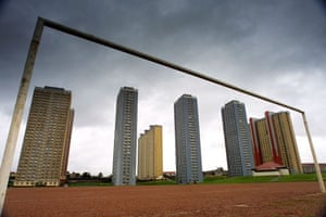 The Red Road Flats in Glasgow, Scotland