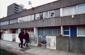 Run down housing estate in south east london