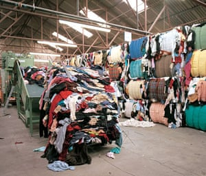 Charity clothing recycled