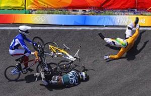 Crash in the men's BMX final