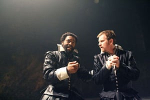 Chiwetel Ejiofor as Othello and Ewan McGregor as Iago at the Donmar Warehouse in 2007