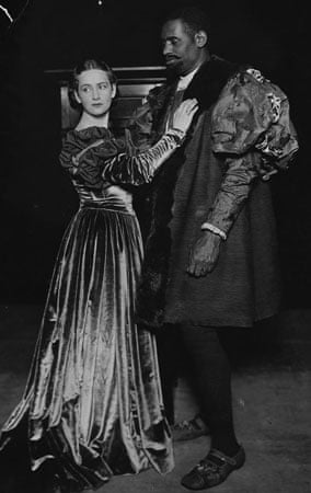 Paul Robeson with Peggy Ashcroft in the London production of Othello in 1930
