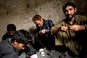 Heroin Addicts in Afghanistan