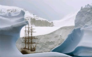 The barque 'Europa', Antarctica.  Rene Koster, Netherlands. Runner-up, Iconic Portfolio category Travel Photographer of the Year 2006