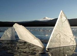 Ice hills, Loch Garten, Scotland