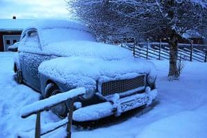 Snowy car, Luleå, Sweden